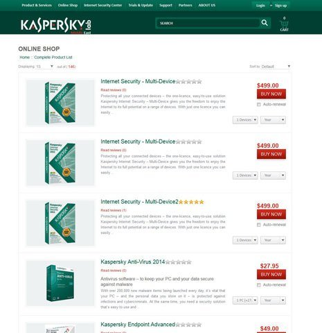 Kaspersky Products Shop Online