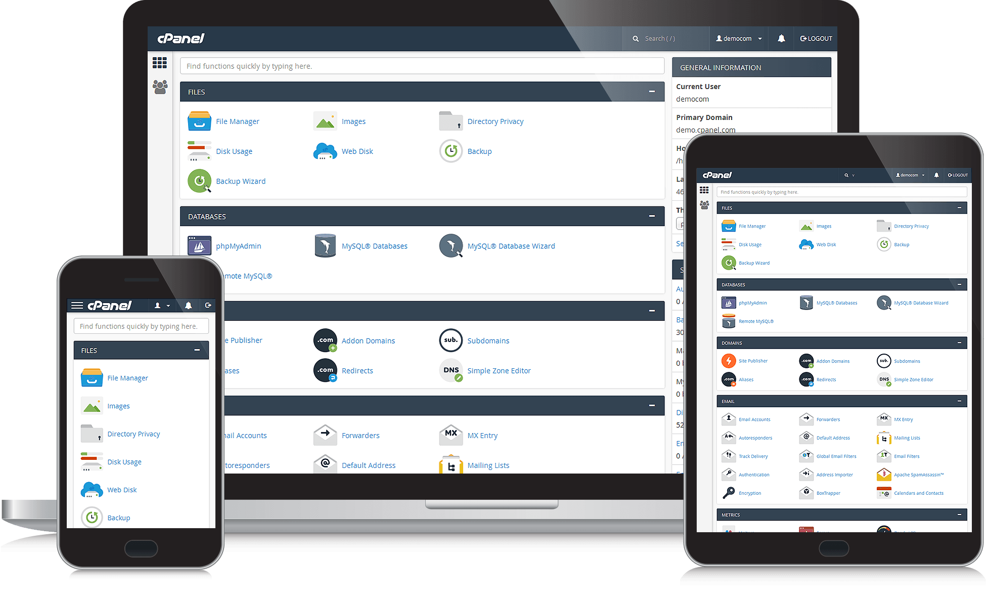 Seamless website management with cPanel