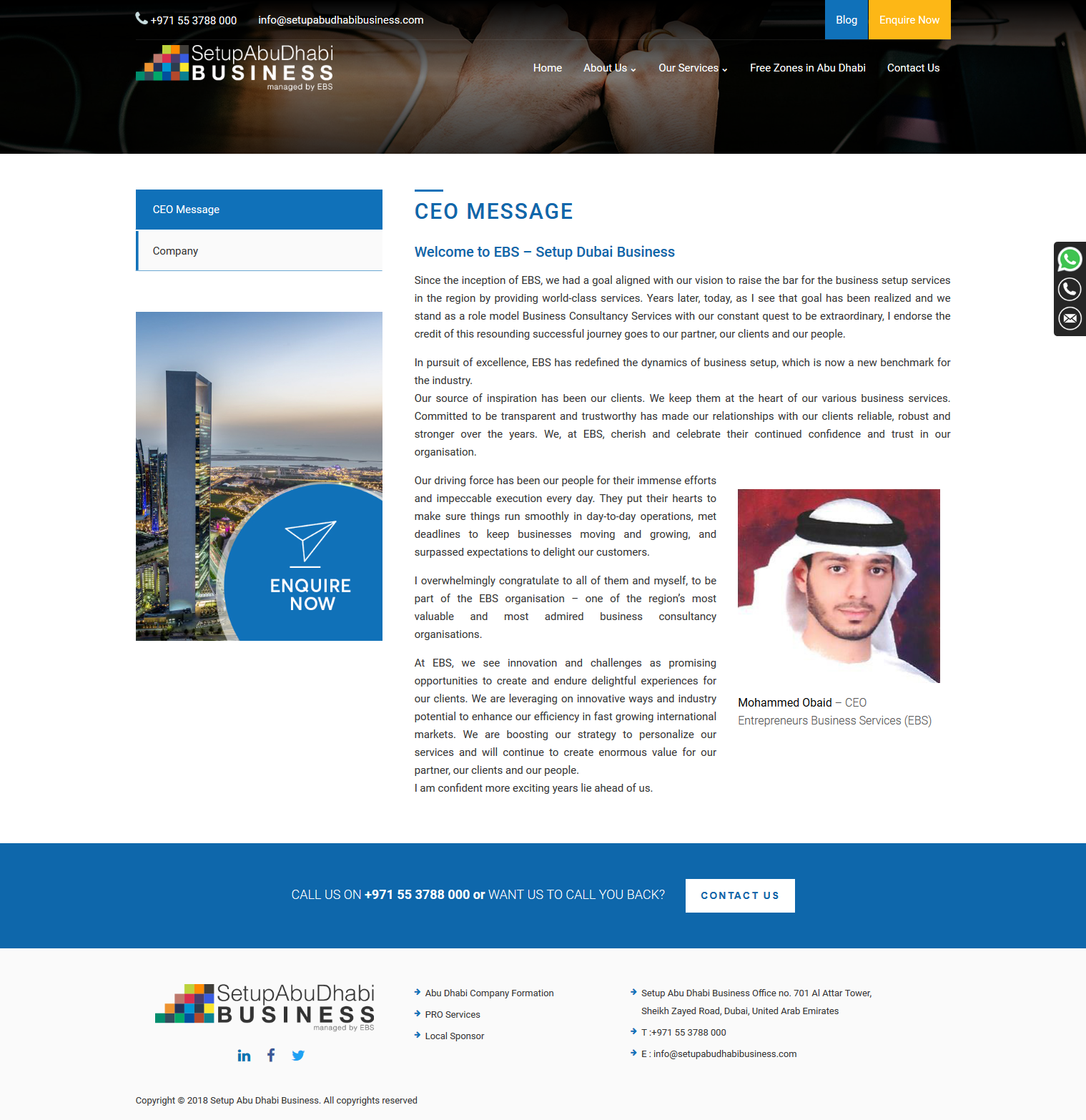 Setup Abu Dhabi Business
