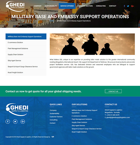 GHEDI Supply and Logistics