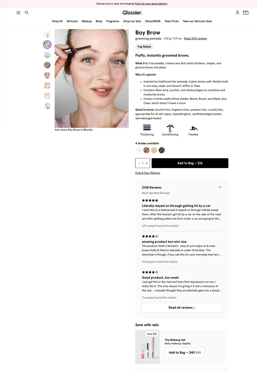 Glossier – Fashion & Beauty