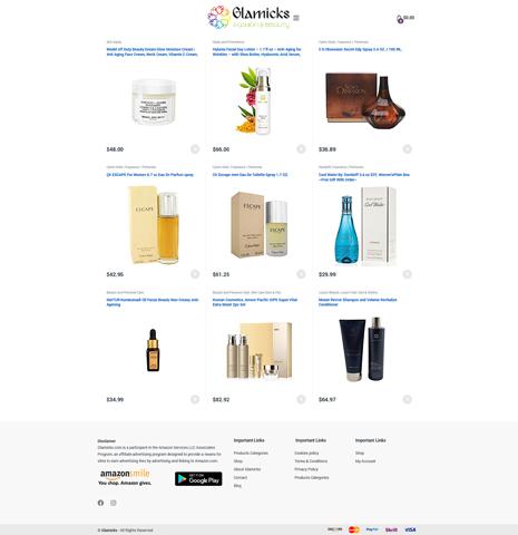 Glamicks – eCommerce