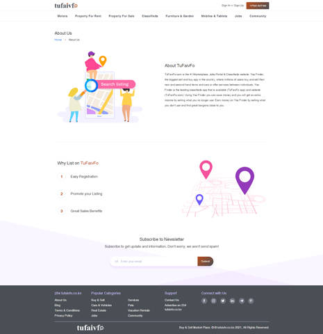TuFaivFo Classified Portal