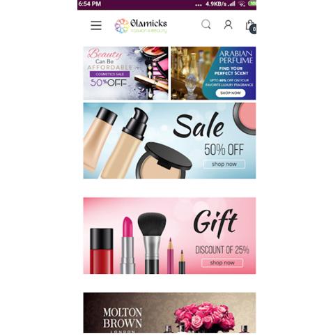 Glamicks – Shopping Store